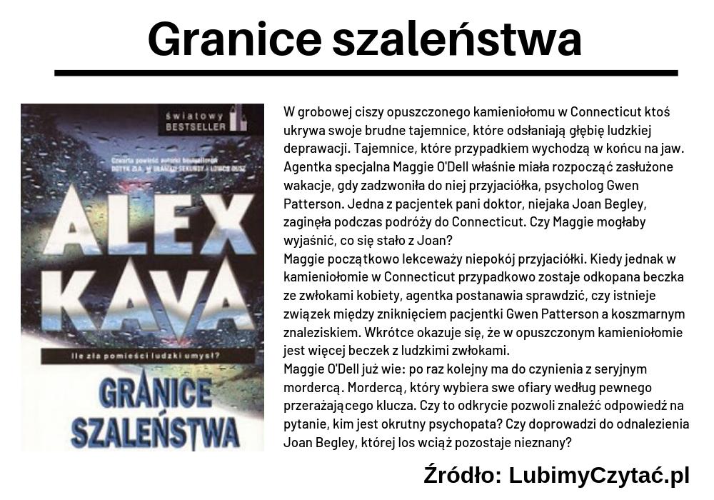 Alex Kava, Granice szaleństwa, TOP 5, Marzenie Literackie