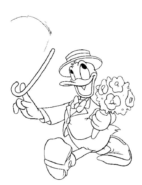daisy and donald coloring pages - photo#11