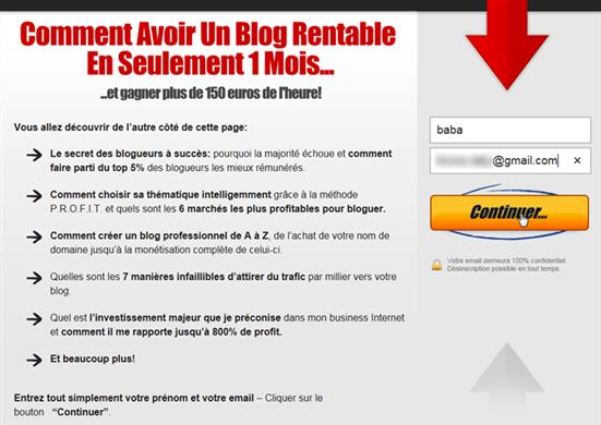 Blogging Rentable - Un blog rentable en un seul mois