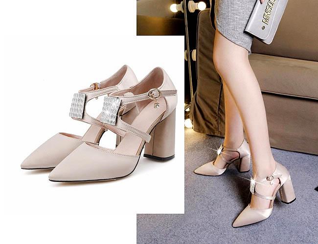 High heels chunky selain fashioned juga nyaman
