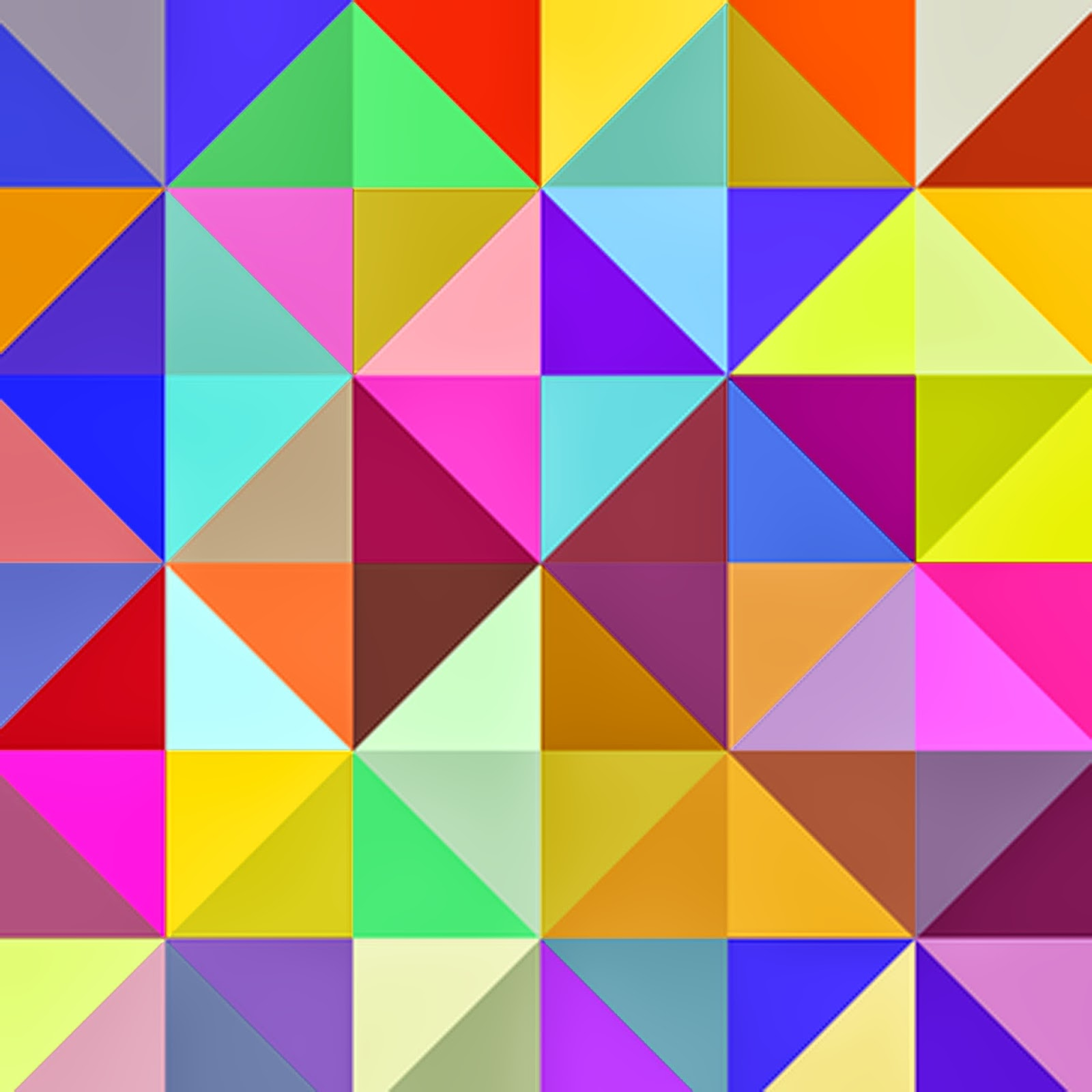 Doodlecraft: Colorful Triangles Geometric Freebies!