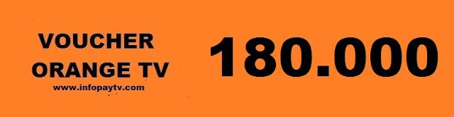 Voucher Orange TV 180 Ribu