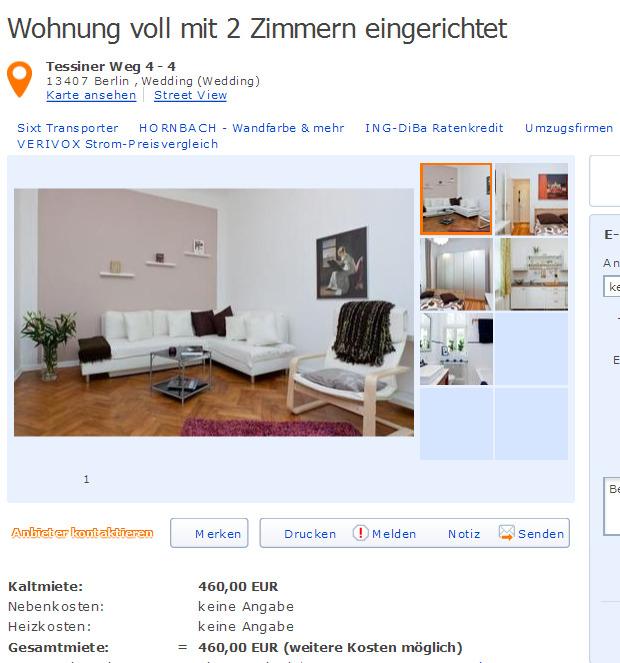 Birkenstrae 25 40233 Dsseldorf Flingern Nord  Gegen Wohnungsbetrug against rental scammers