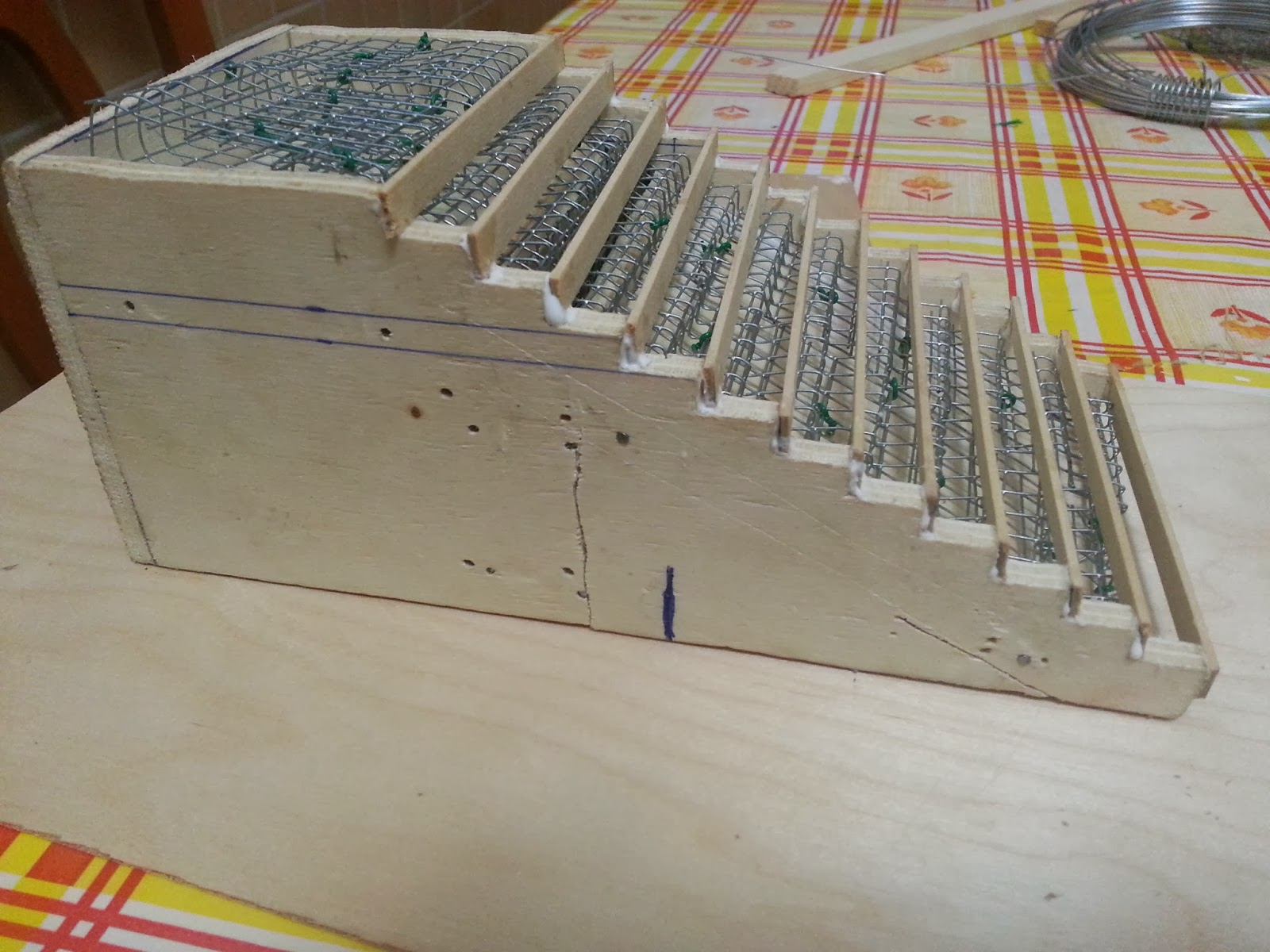 Bifamiliare in scala 1 25 05 struttura in c a della scala for Scala in cemento armato a vista