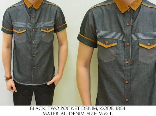 BLACK TWO POCKET DENIM KODE : 1854 IDR 110.000 | Welcome