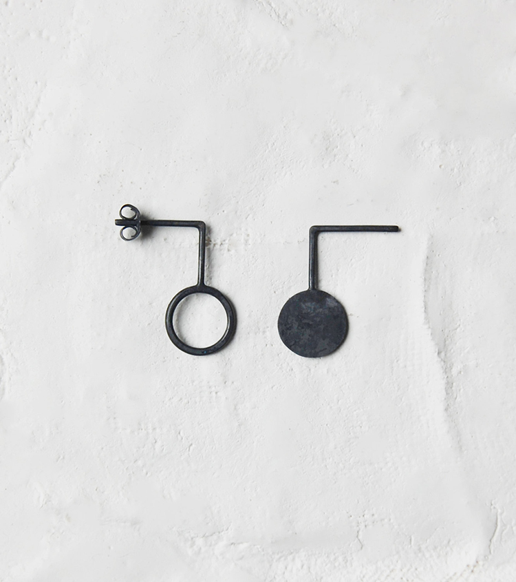 Asymmetrical earrings by AgJc on Etsy