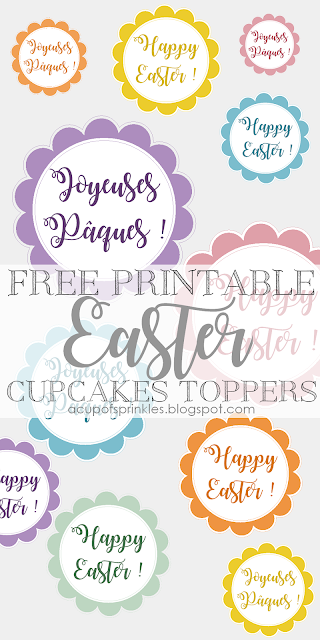 Free printable Easter Cake Toppers imprimable Pâques