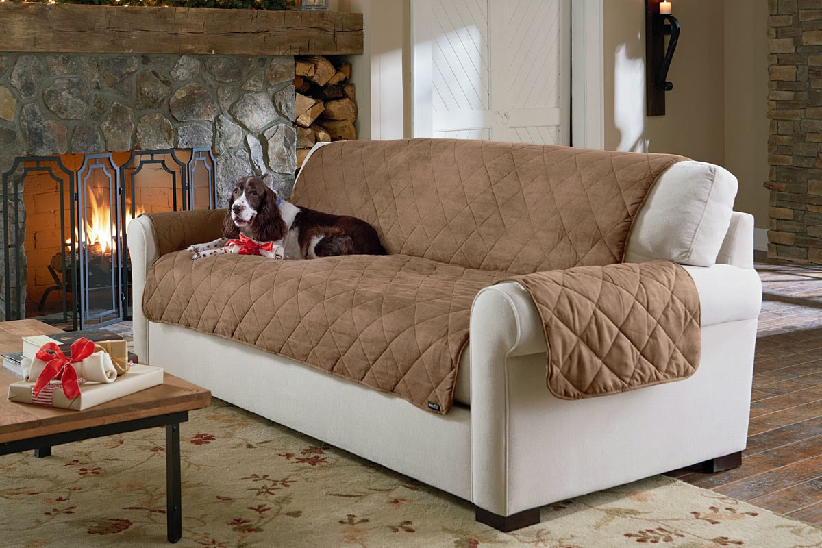 Leather Sofa Dog Protector Best Price Beds Sure Fit Slipcovers Life Is Ruff Pet Proof Your Decor