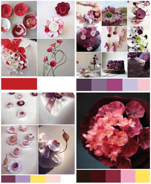 Tendenze colore matrimonio Green 2018 in Rosso e Spring Crocus.Bouquet di carta Roma