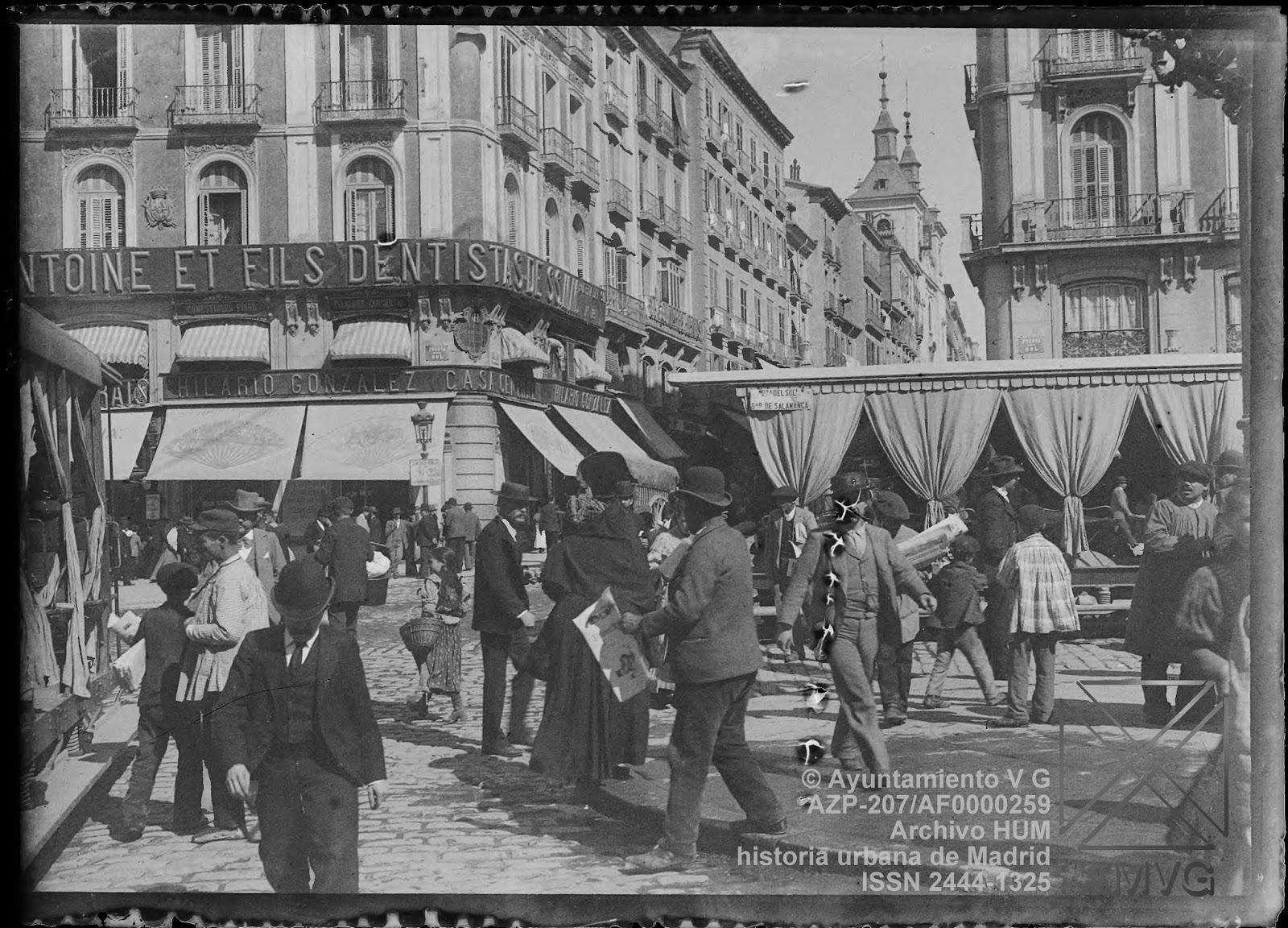historia urbana de madrid fototeca puerta del sol y
