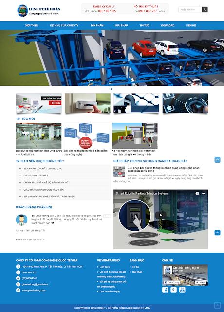 Thiết kế website công ty bằng wordpress