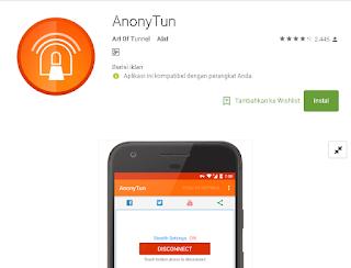 Aplikasi Anonytun Android