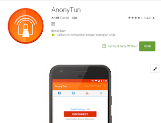 Mengatasi AnonyTun Tidak Connect Validasi Payload