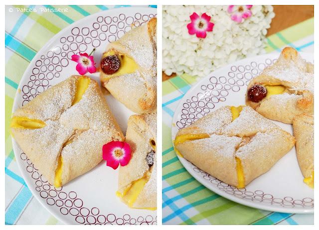 Patces Patisserie Quarktaschen Mit Kirschen Vanille