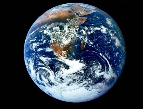 Terra vista do espaço.