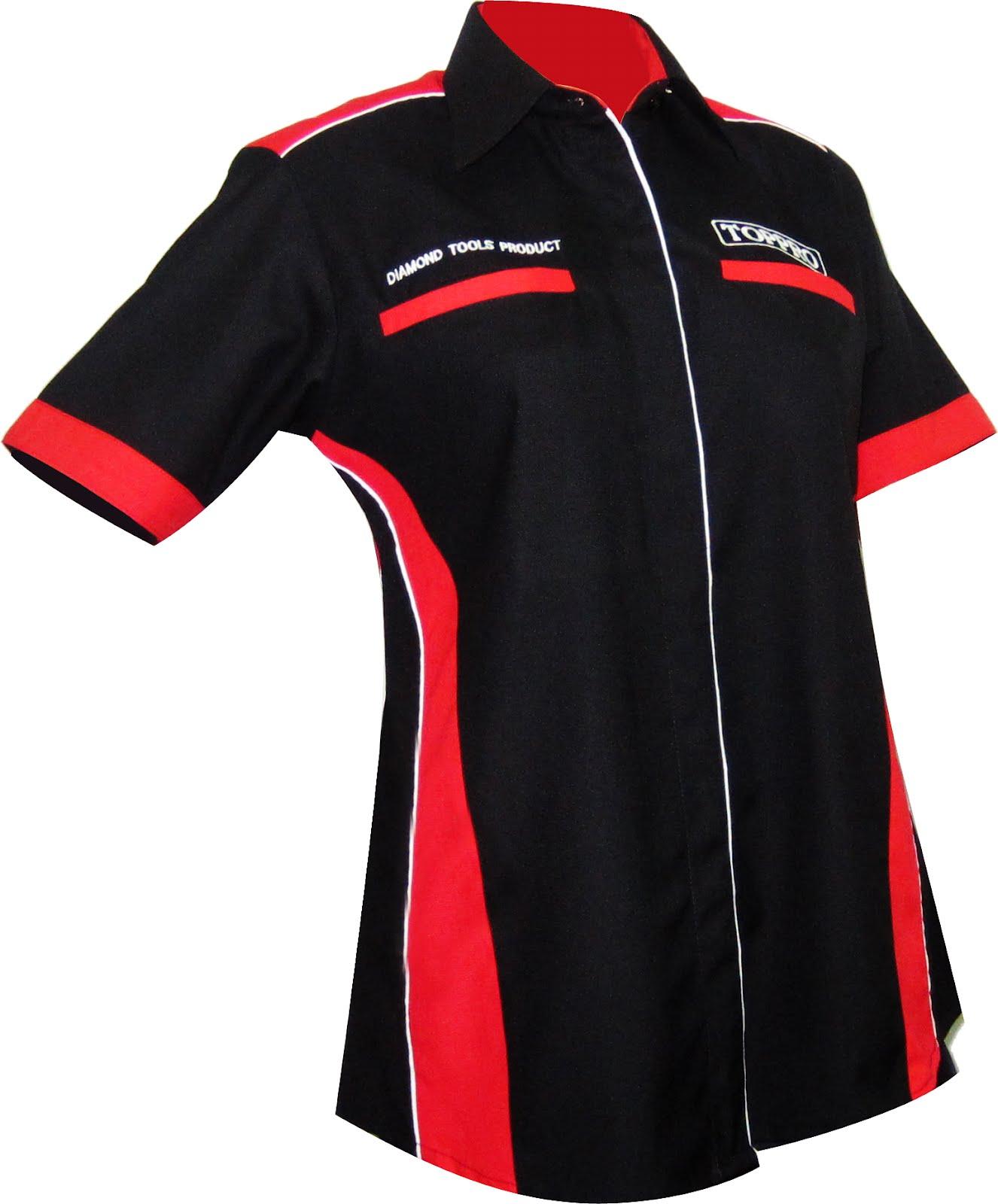 Corporate Shirt Customade CS 03 Red Black Corporate