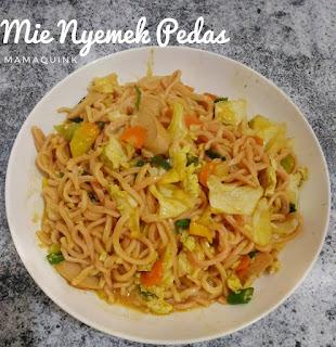 Resep Mie Nyemek Pedas Sederhana Enak By @mamaquink_88