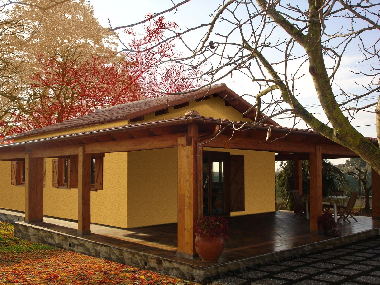 Progetti di case in legno casa 60 mq portico 37 mq for Progetti interni case
