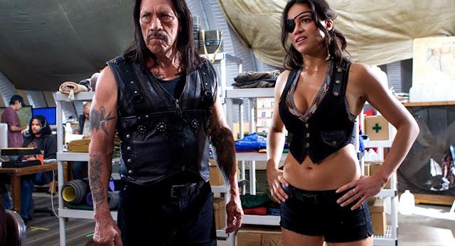 Michelle Rodriquez si Dany Trejo - Machete Kills 2013