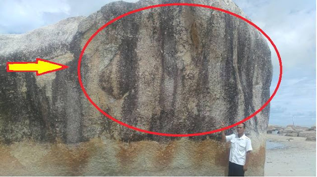 Batu Granit Raksasa Di Pantai Ini Bertuliskan Lafadz Allah
