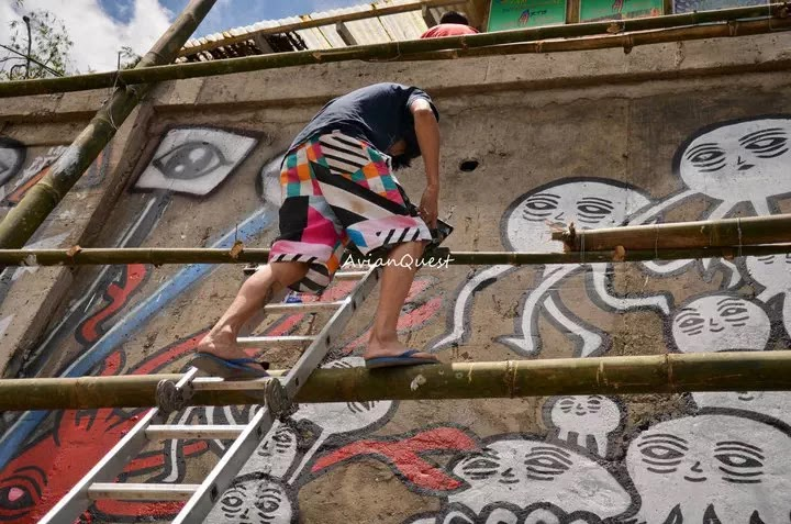 Tamawan Village Making of a Graffitti Mural Baguio City Philippines 39