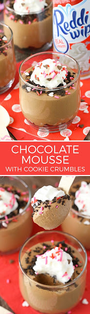 Chocolate Mousse With Cookie Crumbles