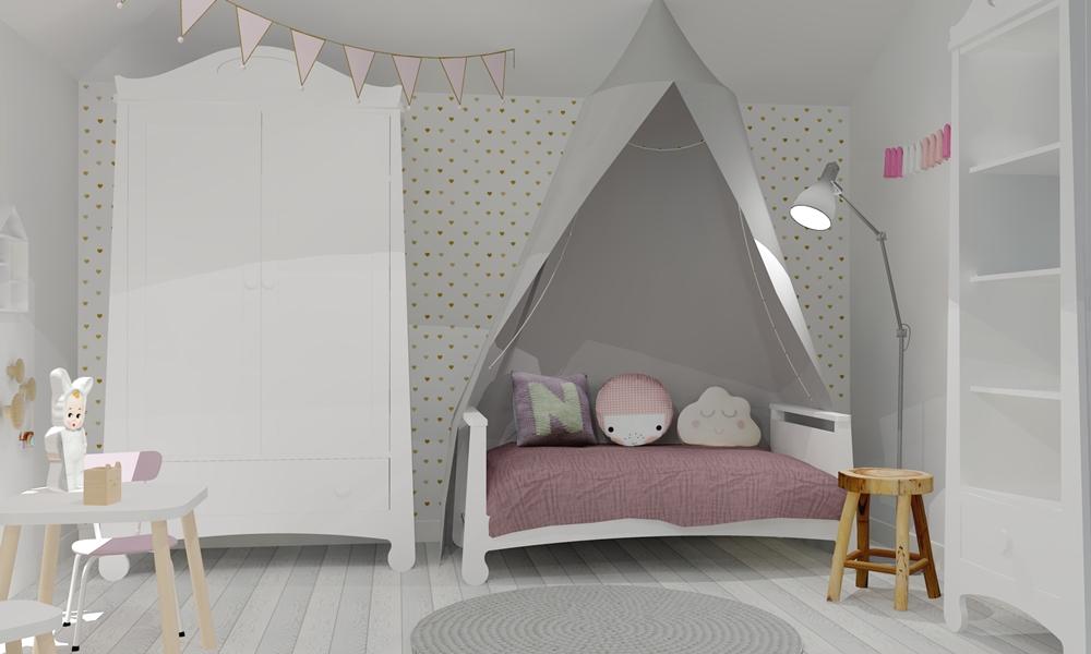 projekt pokoju dziecięcego w stylu skandynawskim