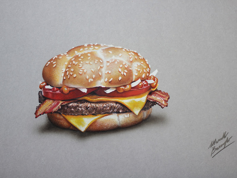 McDonalds McHeaton Burger - drawing (2 of 5) - Marcello Barenghi