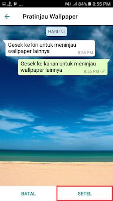WhatsApp - Tekan tombol SETEL