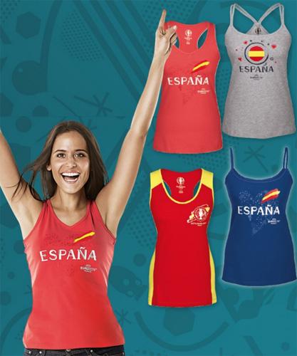 camisetas tirantes España para mujer selección Eurocopa 2016 Lidl