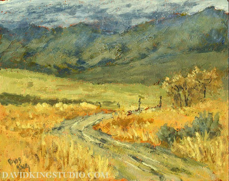 art painting plein air acrylic autumn Tooele valley