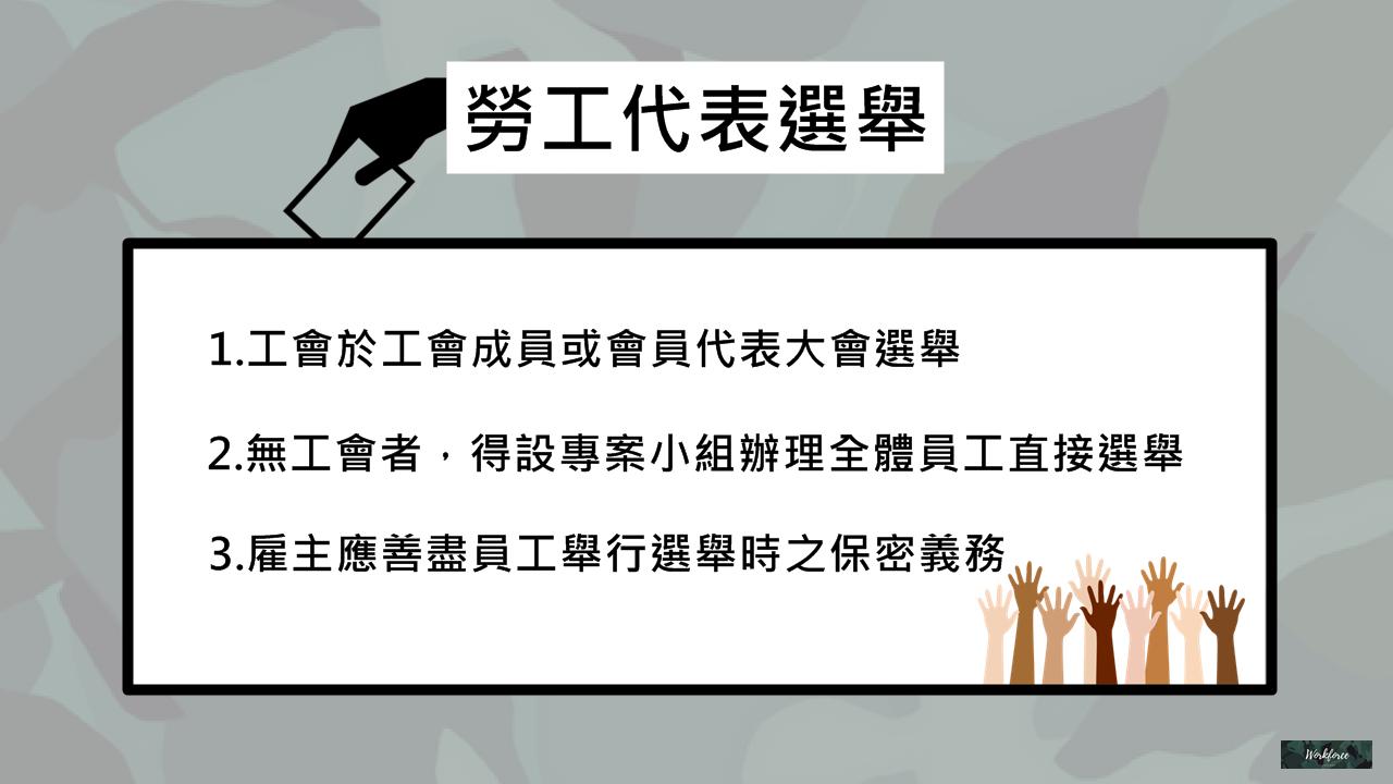勞資會議勞工代表選舉