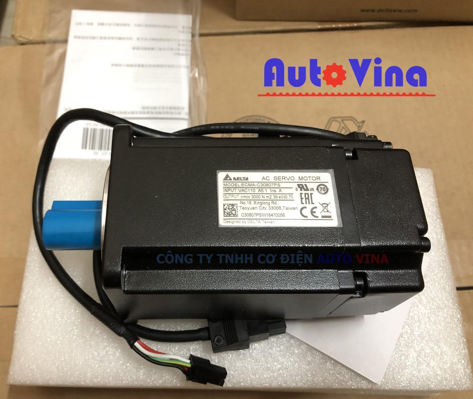 Đại lý bán động cơ AC Servo Motor ECMA-C30807PS hãng Delta tại Việt Nam