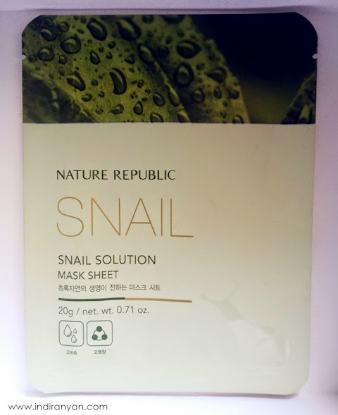 [FIRST IMPRESSION] Nature Republic - Snail Solution Mask Sheet*