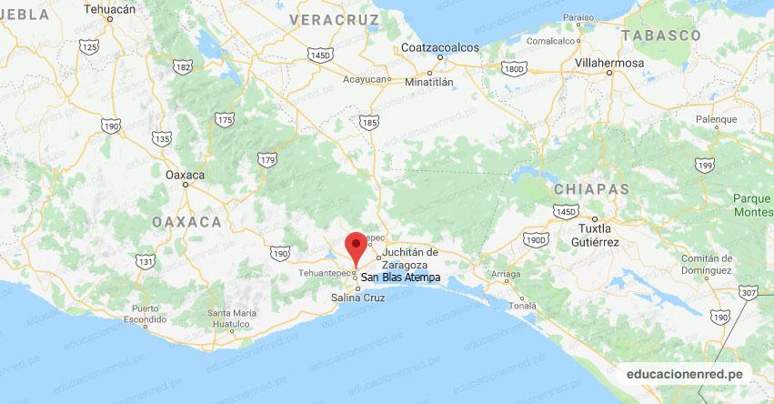 Temblor en México de Magnitud 4.3 (Hoy Lunes 30 Septiembre 2019) Sismo - Epicentro - San Blas Atempa - Oaxaca - OAX. - SSN - www.ssn.unam.mx