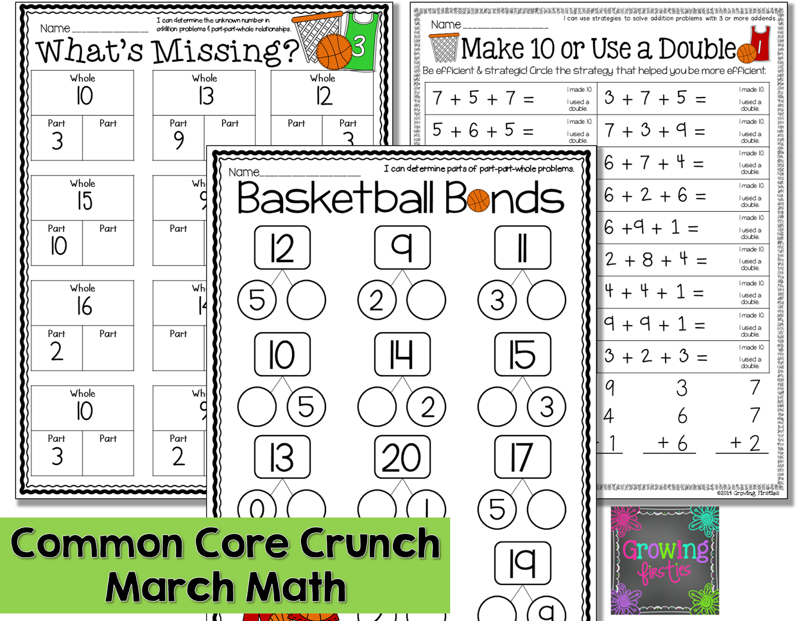 Part Part Whole And March Printables