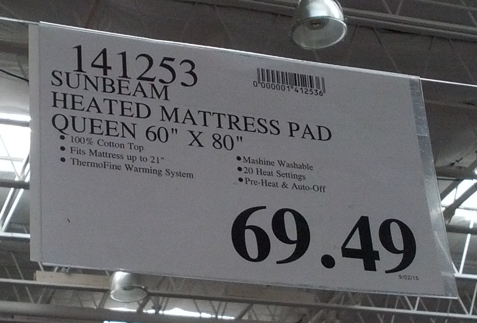 Deal For The Queen Size Sunbeam Premium Heated Mattress Pad At Costco