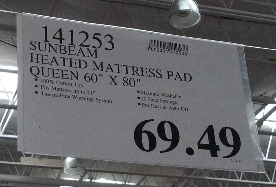 queen size heated mattress pad Sunbeam Premium Heated Mattress Pad (queen) | Costco Weekender queen size heated mattress pad