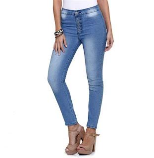 calça jeans feminina larga