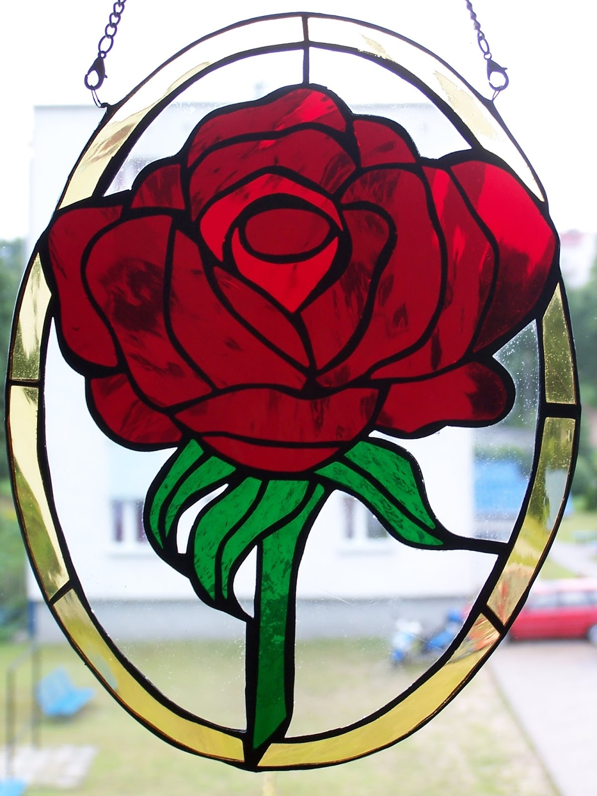 Modish Witraże Lucyny: Kwiaty OZ44