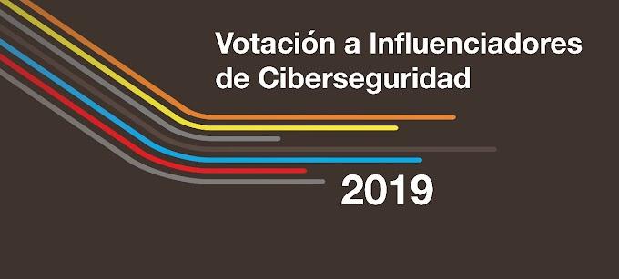 Votación a Influenciadores de Ciberseguridad 2019