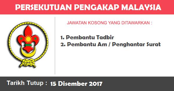 Jawatan Kosong di Persekutuan Pengakap Malaysia