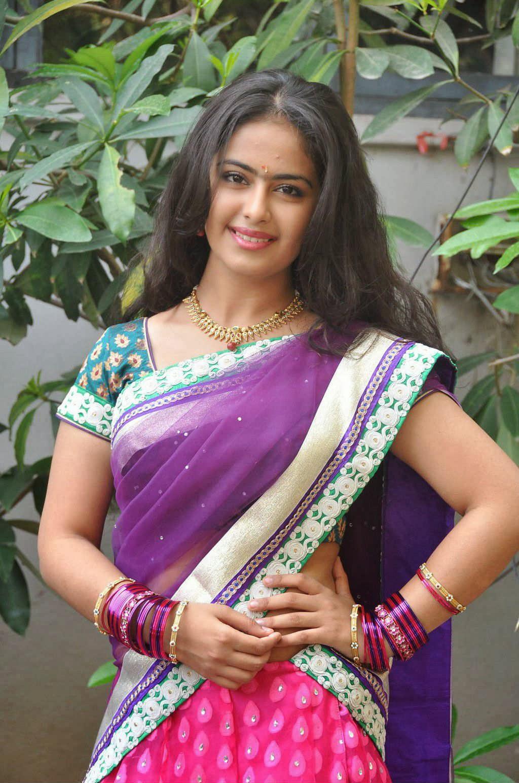 Glamorous Avika Gor Hot Photos In Blue Saree