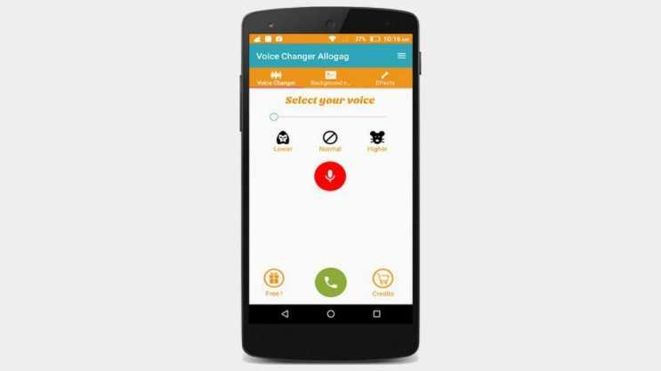 Call Voice Changer Allogagi anlık olarak sesinizi değiştirebilmenizi sağlamaktadır.