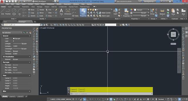 Auto CAD 2019 Screen