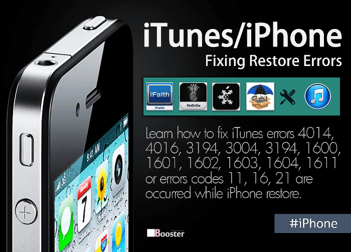 Fix iTunes Errors While Restoring or Updating or Downgrading iPhone