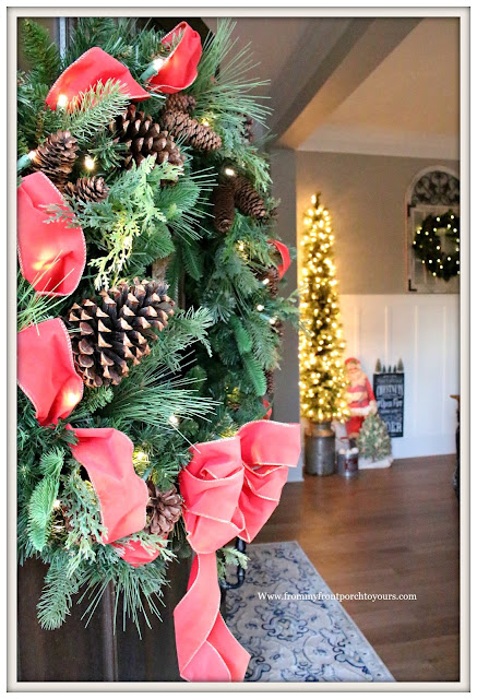 French Country Farmhouse Christmas Dining Room-Wreath-From My Front Porch To Yours