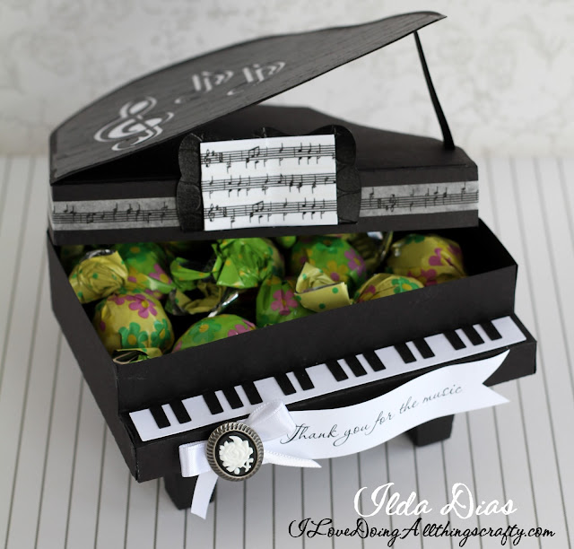 Thank you for the Music | Piano Gift Box | SVGCuts by ilovedoingallthingscrafty.com