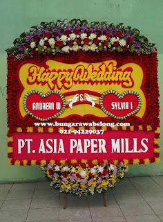Bunga Papan Pernikahan Gedung Puspa Pesona Taman Anggrek
