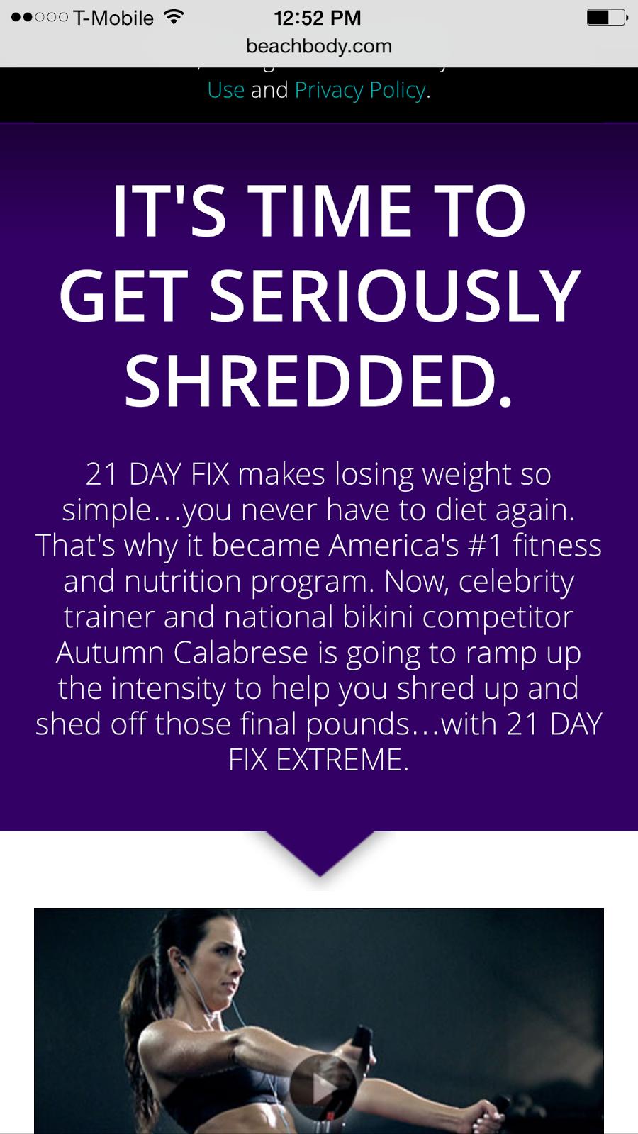 Robyn Whitworth beach body coach 21 day fix results